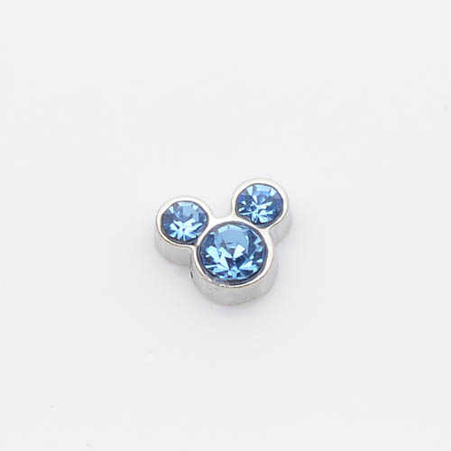 Sky blue birthstone, nổi charms fit nổi charm lockets FC0029-F 10 cái/lốc