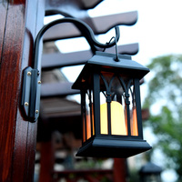 Outdoor Solar Power LED Candle Light Yard Garden Decor Tree Palace Lantern Light Hanging Wall Lamp SDF SHIP