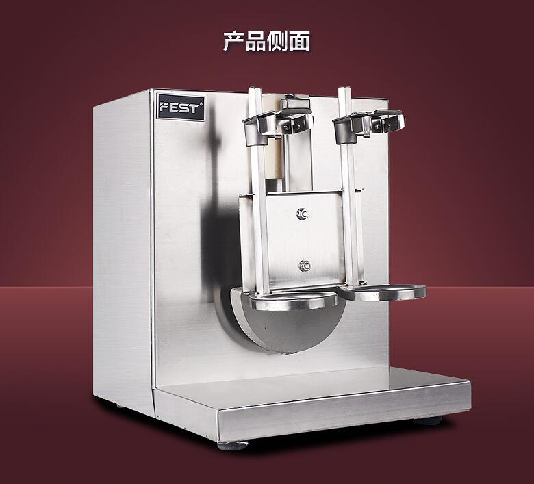 Free shipping Commercial use double end peal mailk tea shaking machine / snow grams shaker / buy machine come with 2 bottle edtid new high quality small commercial ice machine household ice machine tea milk shop
