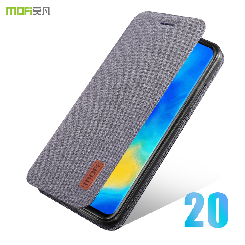 for huawei mate 20 X case cover MOFI huawei mate 20 Pro Fabric Flip Cover Case 20X soft TPU Back Cover mate 20 business Case