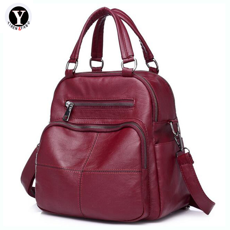 Yirenfang Для женщин сумка Мода многофункциональных дорожные сумки для Для женщин Crossbody кожаные сумки Сумки Для женщин известных брендов