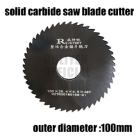 2pcs 100mm out dia circular slitting saw blade cutter 100*2.0 100*3.0 Teeth Tungsten Steel Saw Blade 40mm Milling Cutter