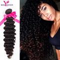 Peruvian deep wave 3 Bundles Peruvian Virgin Hair curly weave 7a unprocessed virgin Hair Rosa Hair Products human hair extension