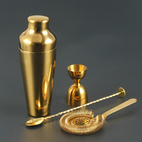 Rose gold French trumpet gold cocktail shaker sets Bar tool set
