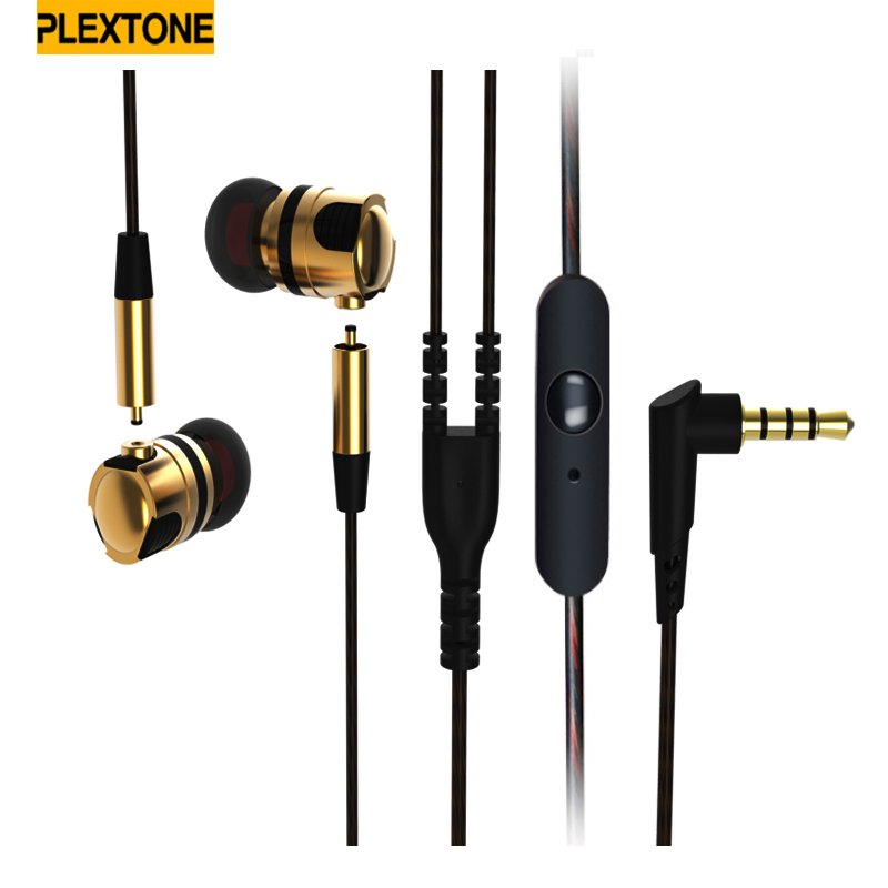 3.5mm  High Quality Metal Earbud  Earphones X46M Super Bass with Microphone Hifi Headsets for for iPhone xiaomi SmartPhones