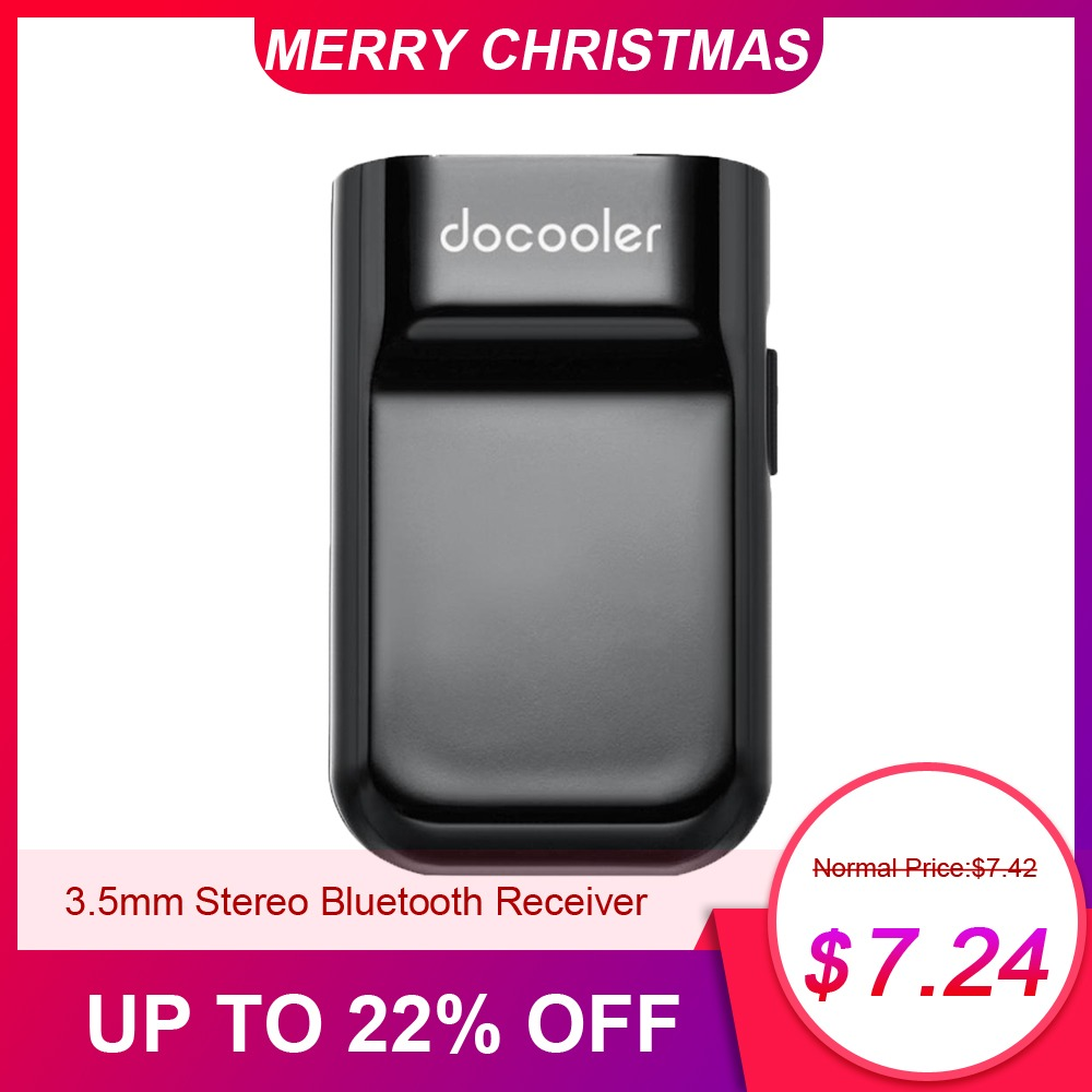 Docooler Bluetooth Receiver Hands Free Car Kits 3.5mm Stereo Bluetooth Music Receiver For Audio
