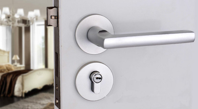 Lever Door Handle Lock For Use Of Entry Page And Bathroom With