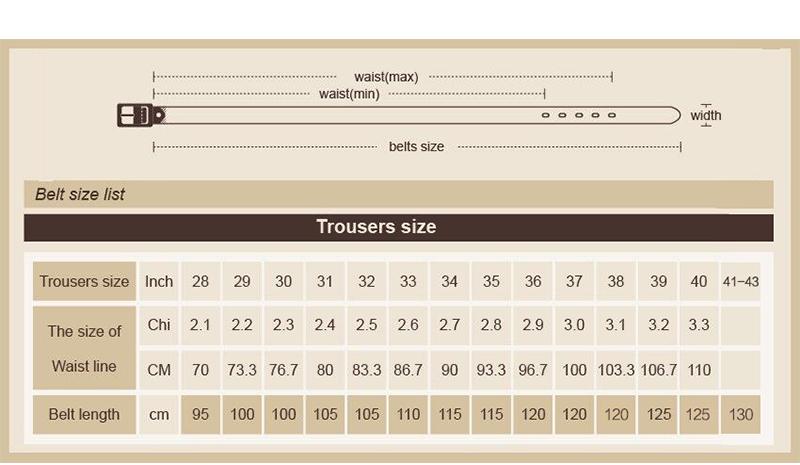 حزام COWATHER  جلد طبيعي للرجال ذو جودة عالية 6