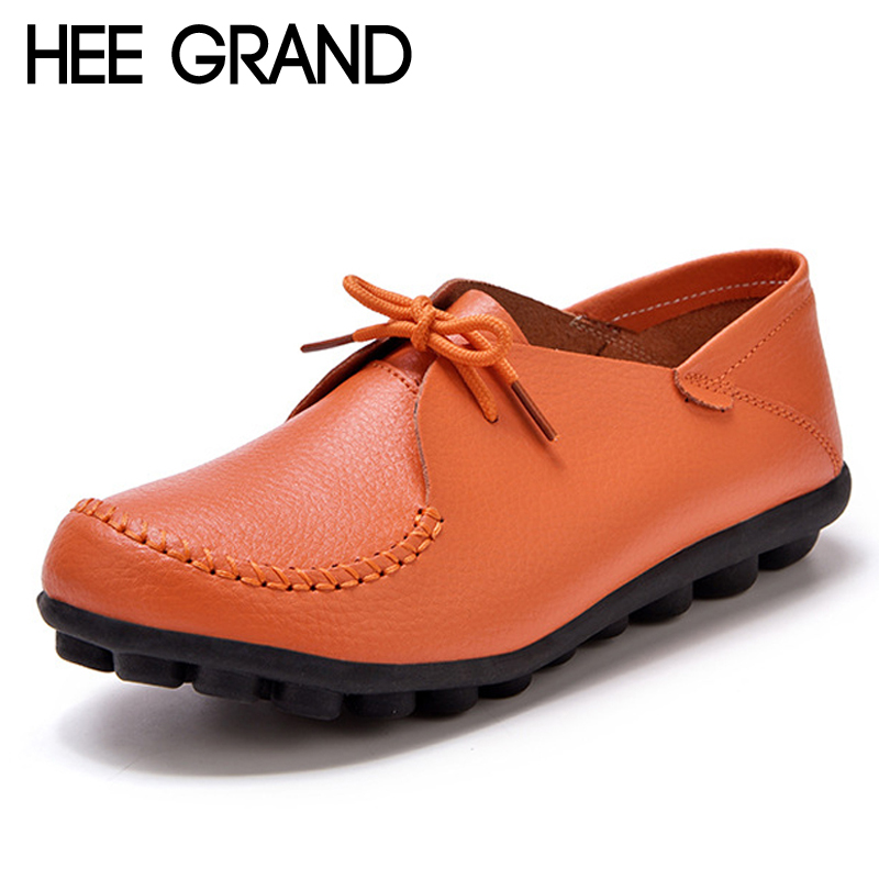 HEE GRAND 2018 New Flats Solid Plain PU Slip On Loafers Casual Shoes Woman Summer Women Shoes 5 Colors Plus Size 35-44 XWD6463 hee grand summer gladiator sandals 2017 new platform flip flops flowers flats casual slip on shoes flat woman size 35 41 xwz3651