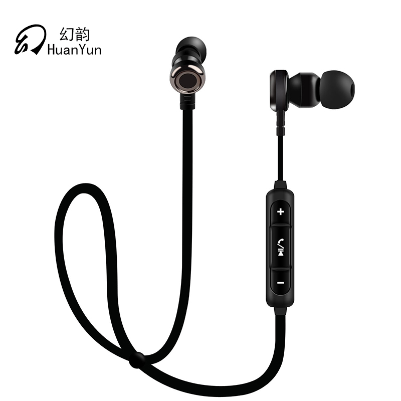 Huan Yun  Headset earphones wireless bluetooth ear hook Stereo Headphones with Mic waterproof Sport Running For Phone For Xiaomi universal led sport bluetooth wireless headset stereo earphone ear hook headset for mobile phone with charger cable