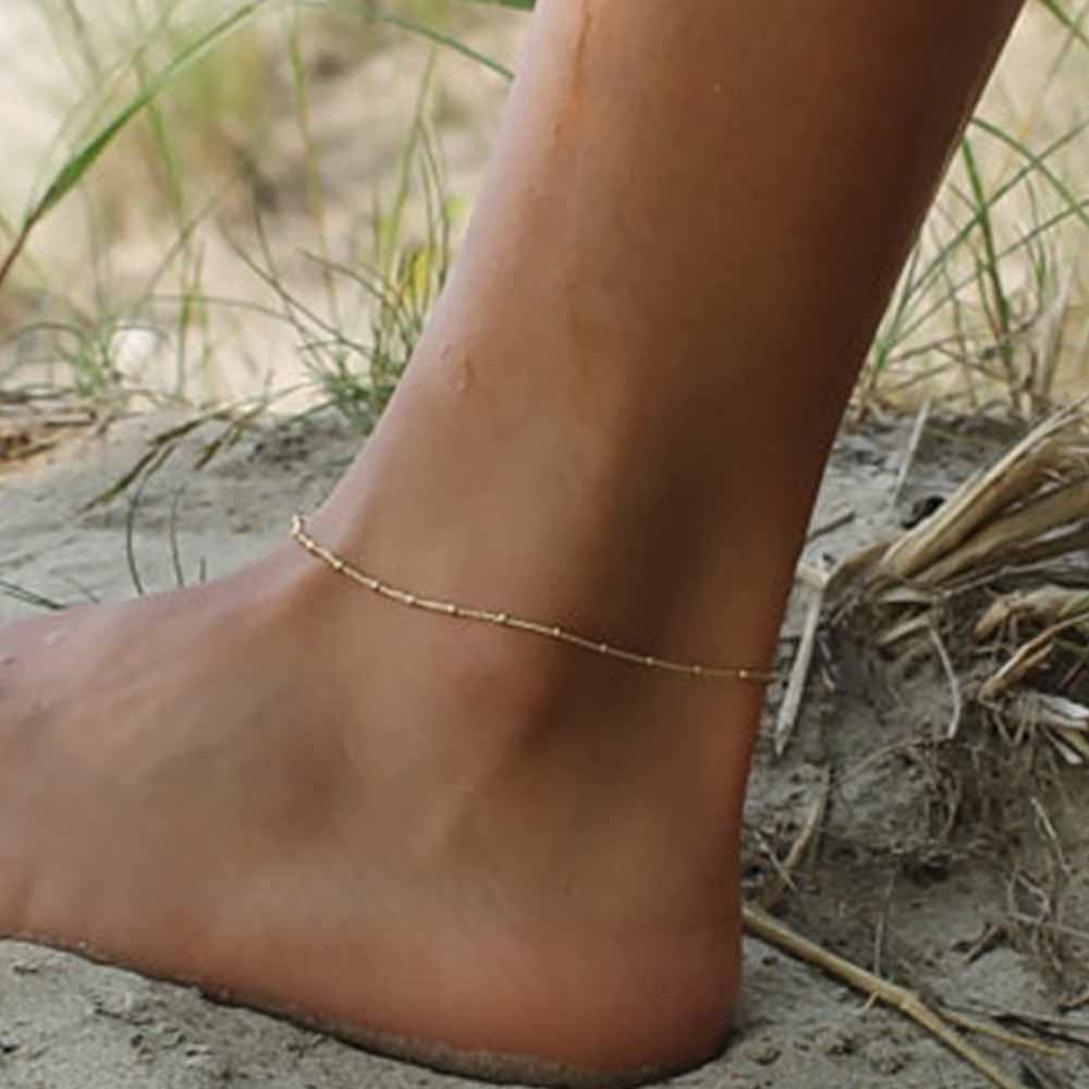 KISSWIFE 2017 New Fashion Gold Anklet Delicate women Gold Satellite Charm Anklet