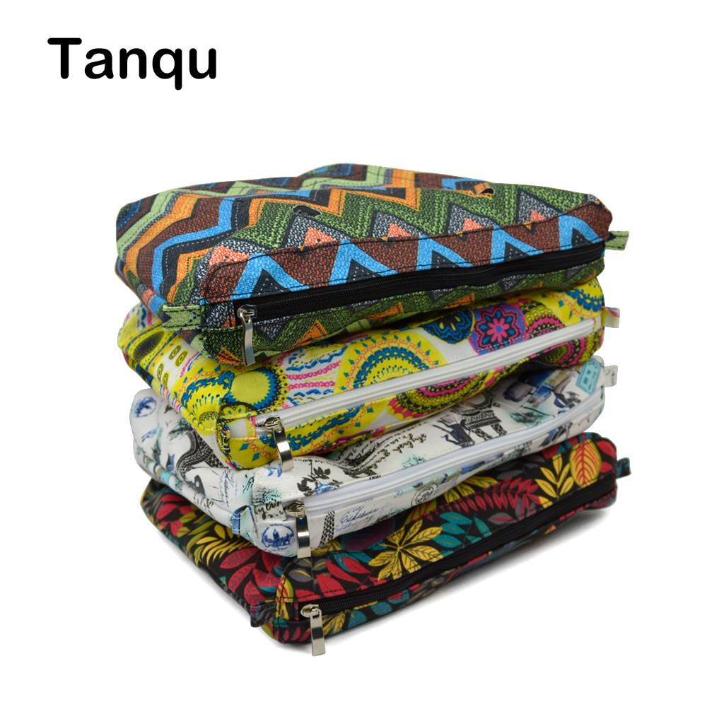 TANQU New Colorful Waterproof Inner Lining Insert Zipper Pocket for Classic Obag Canvas Inner Pocket for O Bag new canvas insert tela insert for o chic lining canvas waterproof inner pocket for obag ochic