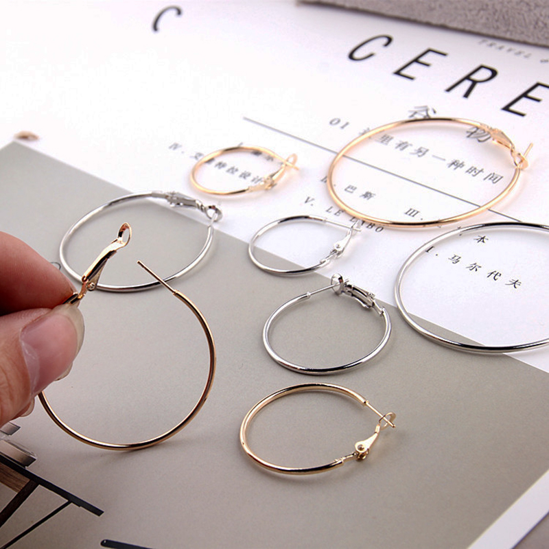 10Pcs/Bag 20/30/40/50 mm Big Link Circle Round DIY Hoop Earrings Base For Jewelry Making Finding DIY  Earrings Connector10Pcs/Bag 20/30/40/50 mm Big Link Circle Round DIY Hoop Earrings Base For Jewelry Making Finding DIY  Earrings Connector