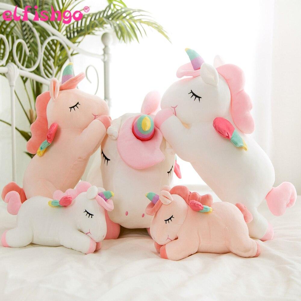 50CM Lying Unicorn Stuffed Dolls Kawaii Soft Animal Unicorn Plush Toys For Children Sofa Pillows Kids Christmas Gift