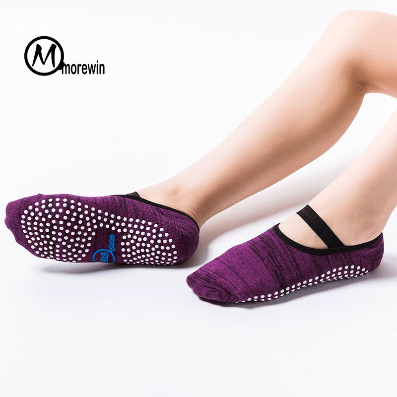 Professional Yoga Socks Quick-Dry Anti-slip Damping Bandage Pilates Ballet Socks Women Good Grip Men&Women Cotton pilates socks
