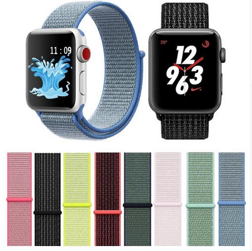 100PCS For Apple Watch Band Series 4 3 2 1 38MM 42MM Nylon Soft Nylon for