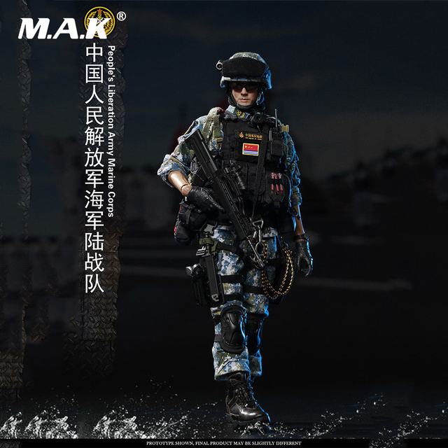 1/6 Full Set Male Solider Action Figure FLAGSET FS-73011 People's Liberation Army Marine Corps Figure Model Toy for Collection