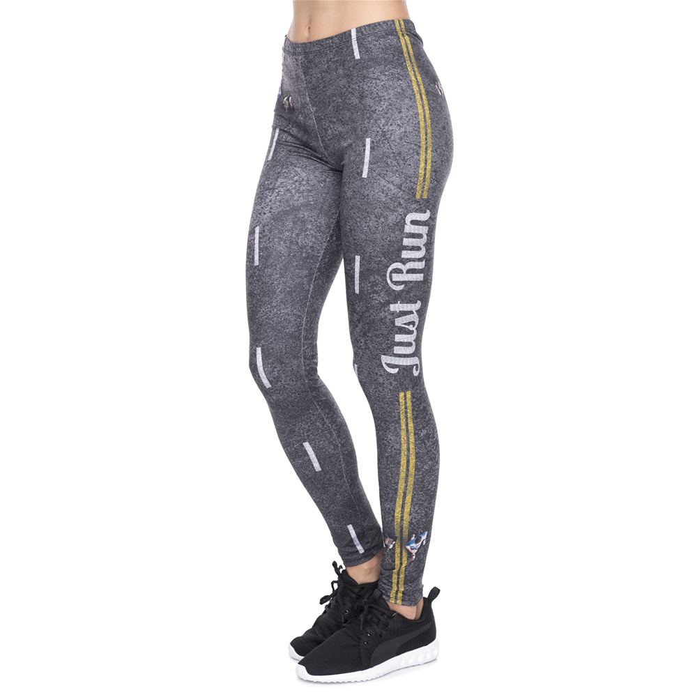 New Leggins Mujer Road Printing Legging Sexy Feminina Leggins Fitness Woman Pants Workout Leggings