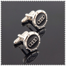Luxury audi  Car Logo cufflinks for mens Brand cuff buttons cuff links High Quality  hot seller fashion jewelry