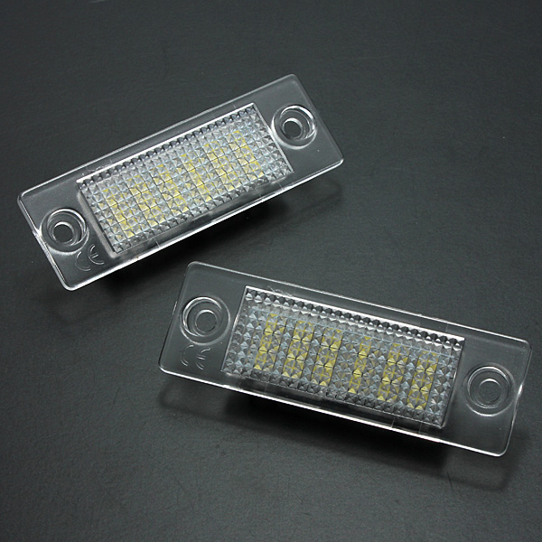 2Pcs License Number Plate Light Lamp 18-LED For VW/Caddy/Transporter/Passat/Golf/Touran/Jetta For Skoda No Error 2x error free led license plate light for volkswagen vw passat 5d passat r36 08