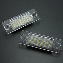 2Pcs License Number Plate Light Lamp 18-LED For VW/Caddy/Transporter/Passat/Golf/Touran/Jetta For Skoda No Error