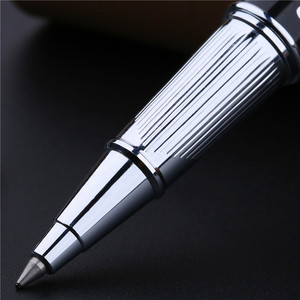Image 4 - Bolígrafo De Bola metálico de alta gama Clip plateado de moda con rotuladores negros de gemas con una caja de regalo de lujo regalo de oficina de negocios regalo de Navidad