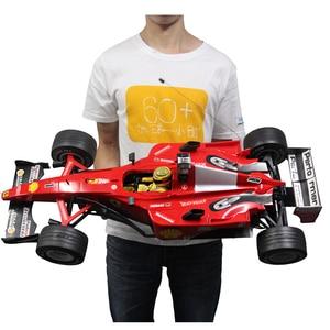 Coche RC 1:6 F1, coche de carreras Super, coche de carreras con Control remoto, modelo de coche deportivo, 4 neumáticos de repuesto, coche electrónico de juguete recargable