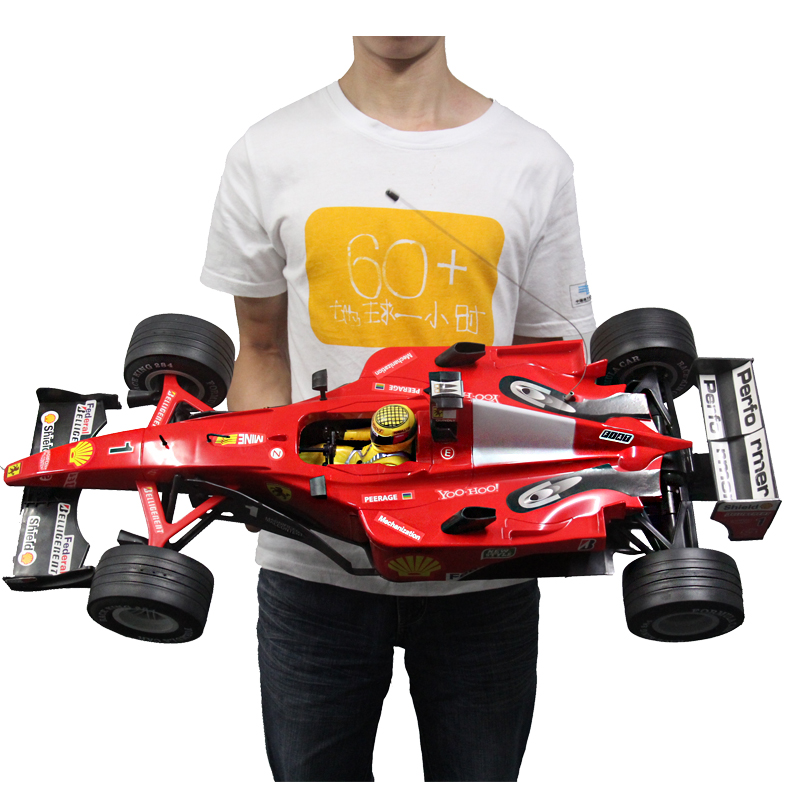 RC Car 1:6 F1 Formula Super Racing Car Remote Control Sport Car Model 4 Spare Tyres Rechargerable Electronic Car Toy