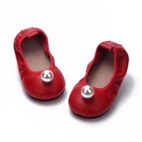 Toddler Girl Shoes Children Loafers Genuine Leather Luxury Girls Shoes Princess Soft Kids Flats Fashion Pearls Big Girl Shoes