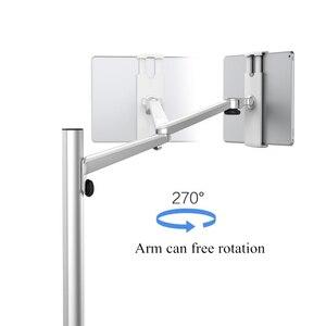 Image 3 - Rotação ajustável do braço do suporte do sofá da cama do telefone móvel da altura de alumínio do suporte do assoalho da tabuleta para o ar do iphone x ipad pro mini 7 13 polegadas