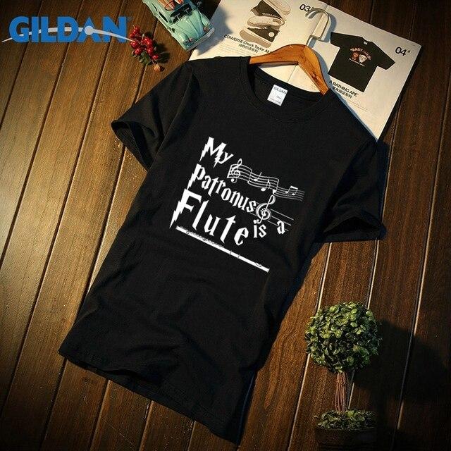 9eb1e4d714d57 Funny Casual Men T Shirt Basic Solid flute shirt my patronus is a flute  Tshirt Homme