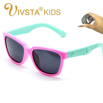 IVSTA Kids Sunglasses Girls Square Frame...