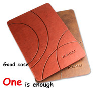 For Ipad 2 3 4 Brand Kaku Classic Pattern PU Leather Cases Smart Cover For Apple