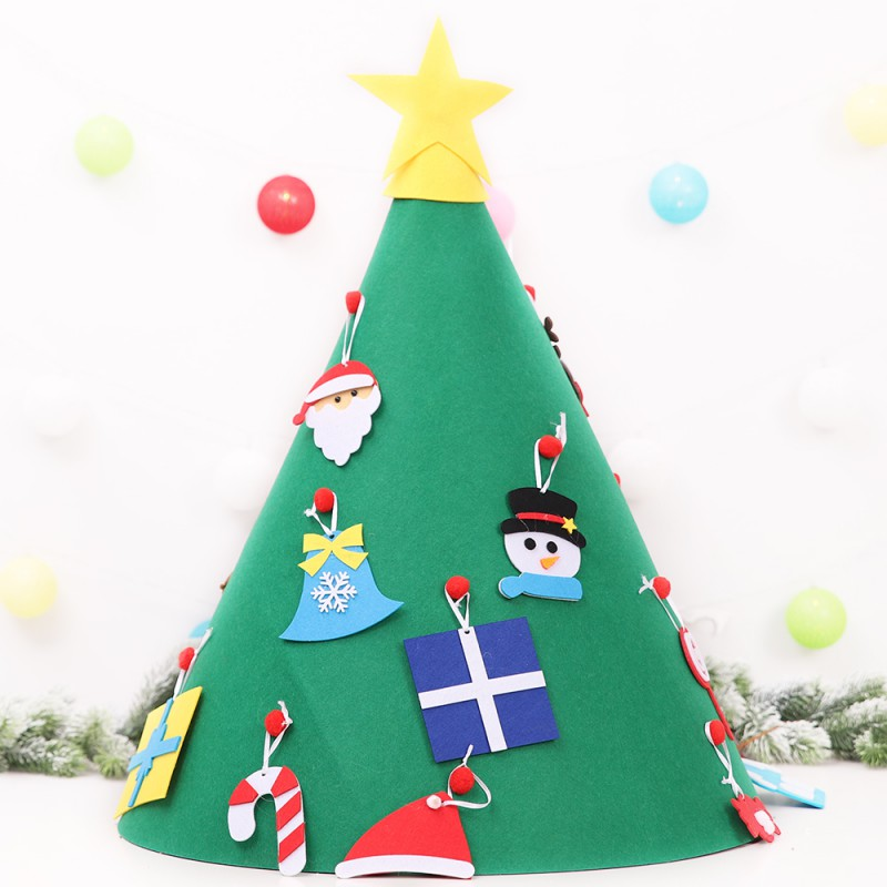 Diy Felt Toddler Christmas Tree New Year Kids Toys Artificial Tree Gifts  Xmas Home Decoration