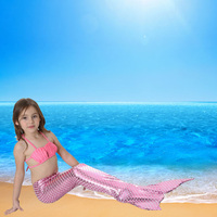 Halloween Gift Fairy Baby Girl Kids Mermaid Tail Funny With Monofin For Swimmable Swimwear Cosplay Costumes