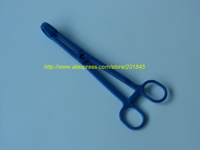 50 Unids/lote quirúrgica Médica fórceps cabeza posicionamiento punción hemostático fórceps abrazadera herramienta esencial de plástico material médico
