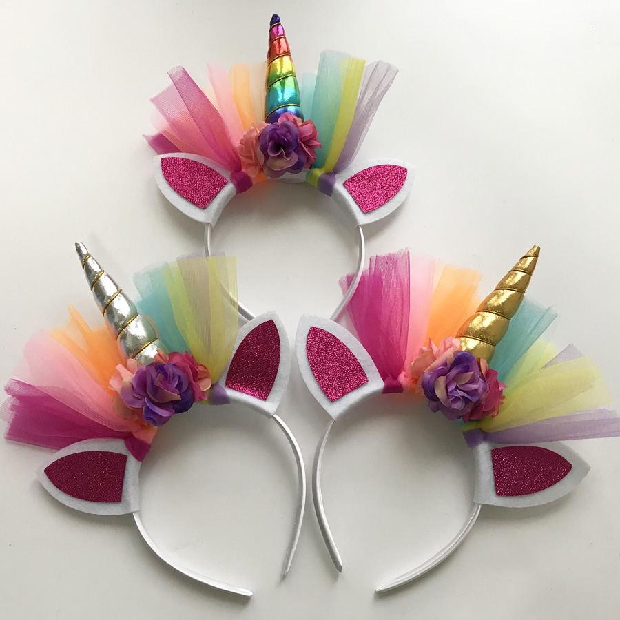 Unicorn Headbands For Birthday Party