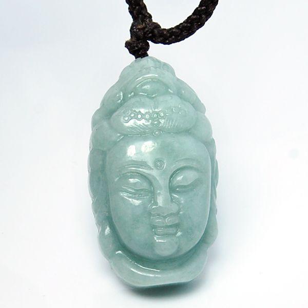 Herrenschuhe Natürlicher Jadeit Guanyin Jade Buddha Anhänger Umschlag Schutzhülle Liebe Stil Jade Anhänger Halskette Senden Ein Zertifikat Anhänger