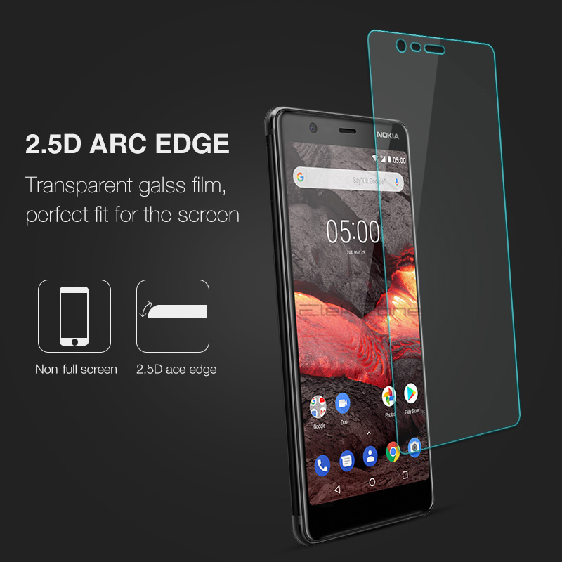For Nokia 3 3.1 Plus Tempered Glass Screen Protective Film Glass Protector For Nokia 2.1 5 5.1 Plus 6 9H Glass Transparent Film 4