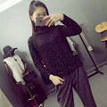 New Autumn Winter Women Ladies Fashion Casual Knitted Turtle Neck Sparkling Irregular Side Slits Jumper Jersey Coat Sweater Tops