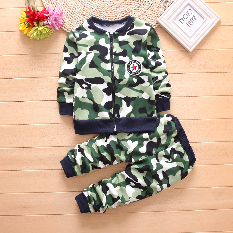 91d020f552a 2018 New Boys Winter Warm Woolen Outerwear Jacket Coat Pants Children Boys Clothing  Set Kids Hoody Trousers Camouflage Tracksuit