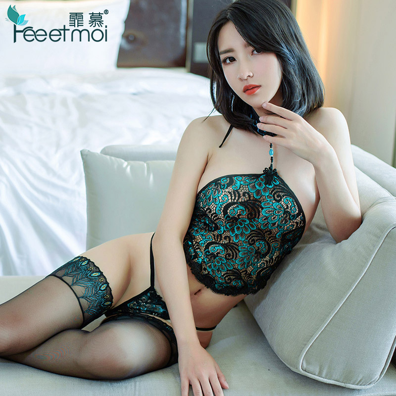Sexy Lingerie Women Set Lace Transparent Bellyband Lenceria Sexy Hot Erotic Backless Embroidery Ropa Interior Sexy Mujer Erotica