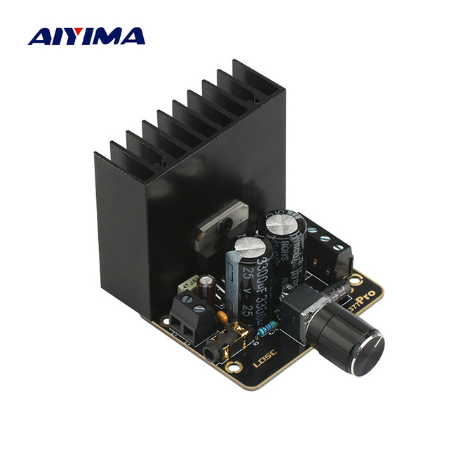 Best Offers  Aiyima TDA7377 Audio Amplifier Board 35W*2 Dual Channel Stereo Car Power Amplifier Module 12V Supply Power DIY Speakers