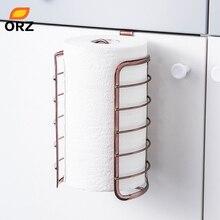 ORZ розовое золото, держатель для кухонной бумаги, крючок для двери шкафа, туалетный рулон, бумажный стеллаж, кухонные аксессуары для ванной комнаты, украшение для дома и офиса