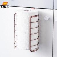 ORZ 로즈 골드 주방 종이 홀더 캐비닛 도어 후크 화장실 롤 종이 랙 주방 욕실 액세서리 홈 오피스 장식 걸이 & 홀더 홈 & 가든 -
