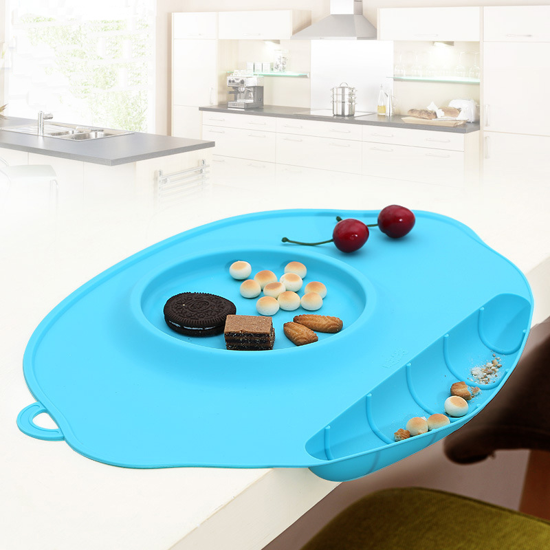 Non-Slip Tray Baby Table Topper Mat Waterproof Silicone Pad Infant Dinner Portable Placemat - Baby Feeding Baby Place Mat
