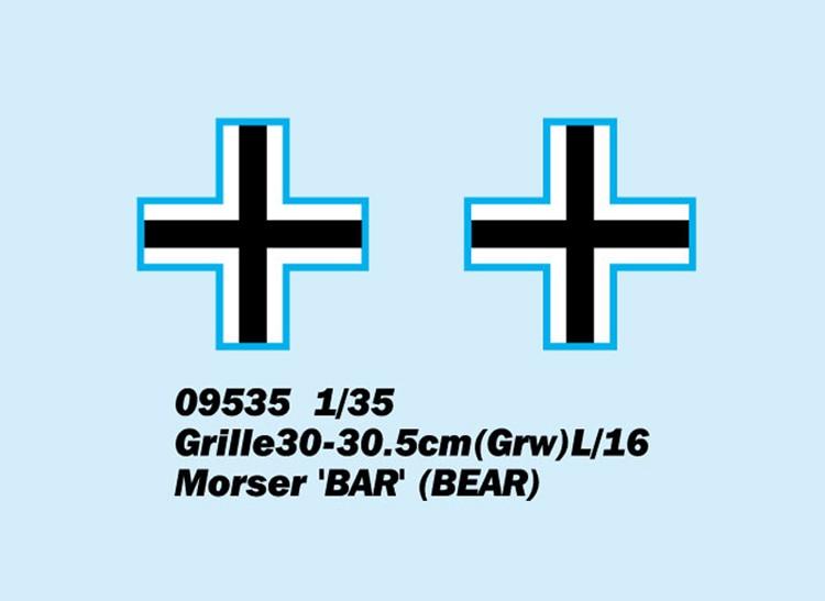 Trumpeter 09535-1:35 Grille30-30.5cm L716 Morser/'BAR/' - Neu Grw BEAR