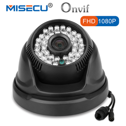 MISECU HD IP Camera 1080P 720P Manual Rotate Onvif P2P Network Wired Night Infrared IR RTSP 48V POE CCTV Dome Indoor Security