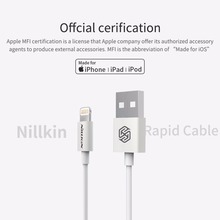 NILLKIN Rapid Cable For apple iphone X XS Max 8 plus 7 XR 5s MFI offcial cerification for Lightning quick charge cable Data line