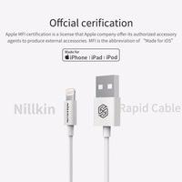 NILLKIN szybki kabel do apple iphone X XS Max 8 plus 7 XR 5S mif oficjalnej cerification dla błyskawicy szybkie ładowanie kabel linia danych w Kable do telefonów komórkowych od Telefony komórkowe i telekomunikacja na